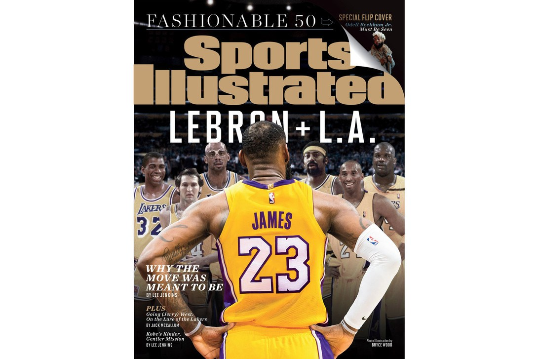 《Sports Illustrated》发布「LeBron James + L.A.」最新封面